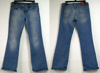 Lucky Brand Lowered Peanut Stretch Denim Medium Blue Jeans 10/30 Made in USA