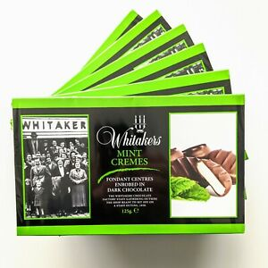 6 x 125g WHITAKERS Dark Chocolate Mint Cremes Best Before End Of August 2022