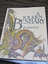 A Tolkien Bestiary David Day 1979 Illustrated HC DJ LOTR Hobbit Middle Earth