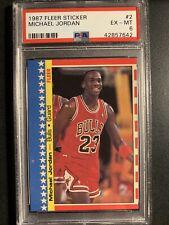 1987 Fleer Michael Jordan sticker PSA 6 Chicago Bulls