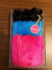 NWT Betsey Johnson Tri-Color Trolls Faux-Fur iPhone 6/6s Case