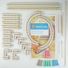 Craft Yarn 5000-100 Multi-function Knitting Board Knit & Weave Loom Kit DIY Tool