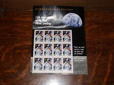 25th Anniversary of First Moon Landing Stamps (Sheet Of 12)