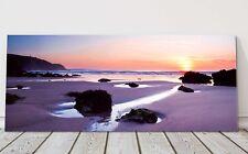 Porthtowan beach cornwall at sunset canvas picture print