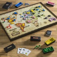Risk The Game of Global Domination 60th Anniversary Deluxe Edition Wooden Board
