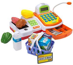 Supermarket Cash Register Orange - Toy Girls Boys Game Kids Play Fun Gift