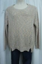 Jessica Simpson Sweater Woman Sz 2X Tan Multi DAZY Knitted Scoop Casual Pullover