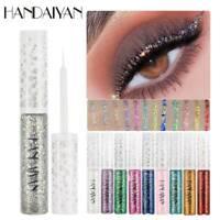 HANDAIYAN Shiny Eyes Eyeshadow Waterproof Glitter Liquid Eyeliner Metallic US