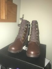 NIB SOREL Girls Emelie Conquest Boots Waterproof Leather & Canvas Size 5