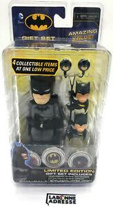 BATMAN GIFT SET FIGURINE  LIMITED EDITION - NEW SEALED - DC COMICS FIGURES