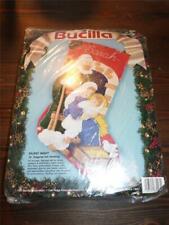 "New ListingBucilla Felt Stocking Kit - Silent Night - Nativity - Felt Stocking Kit - 18"""