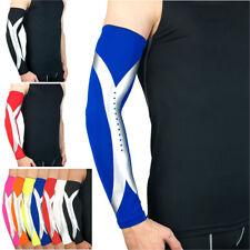 Sports Arm Guard Protective Gear Silver Reflective Design Basketball Sports