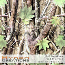 Hydrographic Film Fall Tree Camo Green 38 Square Meter Roll