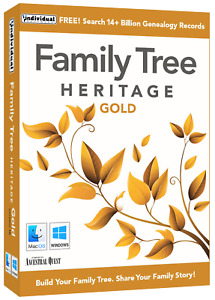 Family Tree Heritage Gold 16 for MAC - Digital Download