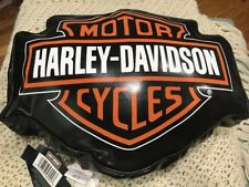 HARLEY logo  MOTORCYCLE BIKER LIKE LEATHER PILLOW new home decor couch chair new