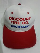 Discount Tire Co. Michelin Cap Pre-owned. White/Red Cap