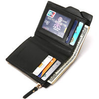 Men's Leather Wallet ID Credit Card holder Bag Clutch Bifold Coin Purse Pockets