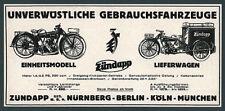 La publicidad! Zündapp em250 sucursales motocicleta furgonetas triciclo obra nuremberg 1927