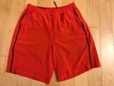 "Lululemon Mens Shorts Sz S Red Grey Liner 18"" Length"
