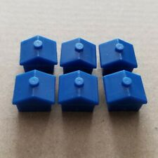 MONOPOLY 6x Wide Blue Houses - Spare Pieces