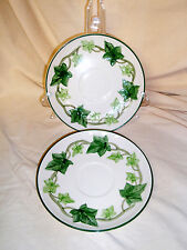 "LOT 2 Vintage California Franciscan Ivy 6 1/4"" Saucers Tea Coffee Cup VGC Ivory"