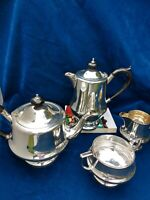 Very Good Quality Stylish Art Deco English Silver Plate Tea Set 4 pce