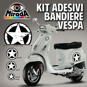KIT Adesivi Stickers VESPA US  ARMY NERA STELLA  PX GTS PIAGGIO PRIMAVERA