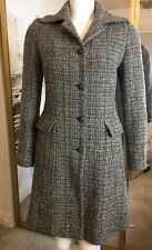 Sisley Made In Italy Women's Size 40 Green Tweed Coat