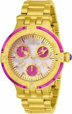 Invicta Subaqua 26141 Womens Round Analog Oyster Crystal Day Date Magenta Watch