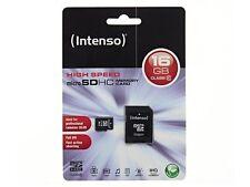 16 GB MicroSDHC Micro SD Speicherkarte mit SD-Adapter Intenso Class 10 Highspeed