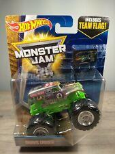2017 Hot Wheels Monster Jam Grave Digger Chrome 25 Anniversary w Team Flag B4