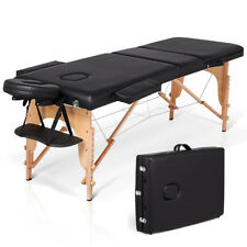 "84"" L Heavy Duty Portable 3 Folding Massage Table SPA Salon Beauty Bed"