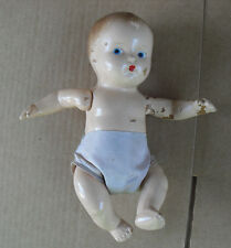 """Vintage Composition Baby Boy Doll in Diaper 7 1/2"""" Tall"""