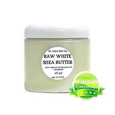 Premium High Quality White Shea Butter Unrefined Raw Pure & Organic 16 oz
