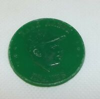 Vintage 1958 Armour Baseball Coin Token 1958 1959 Hank Aaron Braves - Green