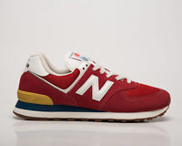 New Balance 574 Men's Team Red White Athletic Lifestyle Sneakers Casual Shoes