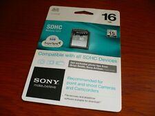 SONY 16gb sdhc for sony cameras DSC DSC-W310 330 WX9 5 10 TX9 7 5 H55 HX5V S2000