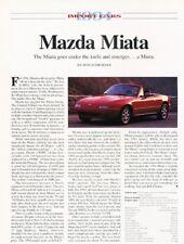 1994 Mazda Mx-5 Mx5 Miata Original Car Review Report Print Article J928