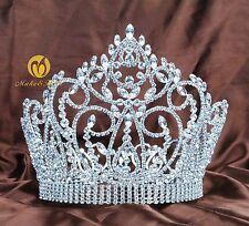 Large Women Queen Wedding Bridal Tiaras Crystal Full Crowns Diadem Hair Jewelry