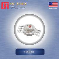10Pcs 1W Watt High Power 6Pin RGB Tri-Color SMD LED Chip COB Lamp Beads Lights