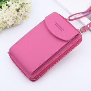 Umhängetasche Crossbody Pink Damen Handy Schultertasche Geldbörse Brieftasche
