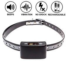 Rechargeable Dog No Bark Shock Collar Waterproof Vibrate Beep Small Large Medium