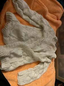 White Woollen Cardigan Size 7 Years