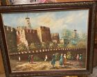 painting isreali scene purchased in Isreal 27x24 inched custom frame L