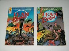 1989 TEAM YANKEE COMIC #2 & 1989 TEAM YANKEE COMIC #3 / FIRST COMICS