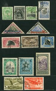 LOT OF LIBERIA OLD STAMPS - USED