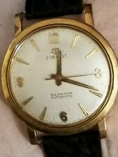 Vintage 1966 Men's Tissot Seastar Automatic Watch RARE shark skin band