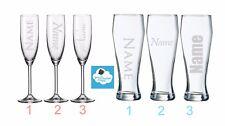 Weizenbierglas oder Sektglas mit Namensgravur