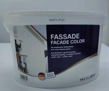 10 Liter Fassadenfarbe Wandfarbe Fassaden Außenfarbe Hausfarbe weiß deckend