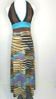 Party Y2K Halter Animal Print Maxi Casual Dress Size 10